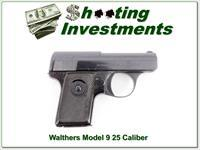 "Walthers Model 9 with ""Eagle N"" Proof mark 25 ACP"
