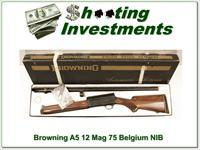 Browning A5 Mag 12 75 Belgium unfired in box!