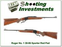 Ruger No.1 Light Sporter 30-06 Red Pad XX Wood!