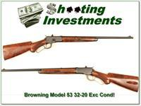 Browning Model 53 32-20 XX Wood Exc Cond!