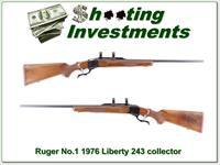 Ruger No. 1 243 Win Red Pad 200 Year LIBERTY!