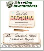 Weatherby factory loaded ammo 340 WThy 225 grain