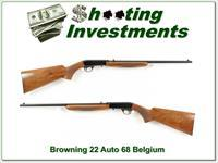 Browning 22 Auto 68 Belgium Honey colored