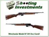 Winchester Model 1907 07 351 Caliber collector made in 1956!