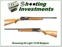 Browning A5 Light 12 Blond 68 Belgium Exc Cond 26in IC!