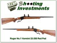 Ruger No.1 Varmint 22-250 Red Pad as NEW!