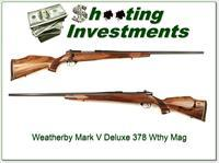Weatherby Mark V Deluxe 378 Wthy Mag Nice Wood!