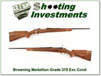 Browning Belgium 270 Win Medallion Grade Collector!