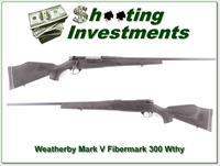 Weatherby Mark V Fibermark 300 maybe unfired