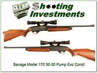 Savage Model 170 30-30 Pump with scope Exc Cond!