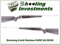 Browning A-bolt Stainless Stalker 243 RARE BOSS