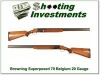 Browning Superposed 70 Belgium 20 Gauge 28in Skeet!