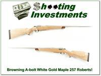 Browning A-bolt White Gold Maple 257 Roberts!