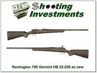 Remington 700 Varmint 22-250 made in 2002 as new!