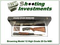 Browning Model 12 High Grade 5 20 XX Wood NIB