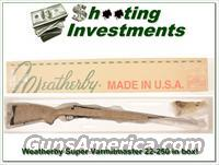 Weatherby Mark V Super Varmintmaster 22-250 in box!