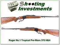 Ruger No.1 Tropical pre-Warning 375 H&H unfired