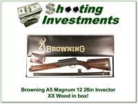 Browning A5 Magnum 12 28in Invector in box XX Wood!