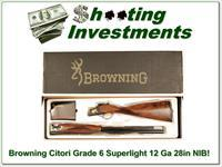 Browning Citori Grade 6 VI 12 Gauge Superlight NIB Unfired XX Wood!