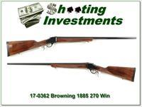 Browning 1885 270 Win 28in Octagonal barrel!