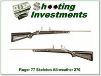 "Ruger Mark II Stainless ""Skeleton"" 270 Win Exc Cond"
