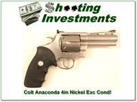 "Colt Anaconda 4"" nickel Exc Cond!"