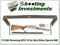 Browning BPS 16 Gauge Shot Show Special Silver NIB!