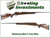Weatherby Mark V 26in 7mm Wthy Mag unfired!