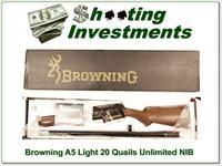 Browning A5 Light 20 Quails Unlimited 1 of 1 NIB!