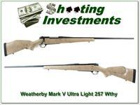 Weatherby Mark V Ultra-Light 257 Wthy Mag