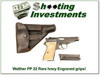Walther Model PP 22 Semi Auto Ivory Factory Grips!