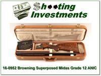 Browning Superposed Midas Grade 12 Ga Long Tang Round Knob!