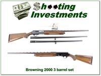 Browning 2000 75 Belgium 12 Ga 3-barrel set!