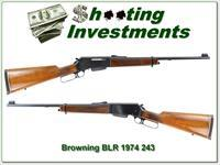 Browning BLR machined steel 1974 243 Win