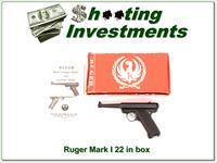 Ruger Mark I 22 LR 4.75in in box with papers!