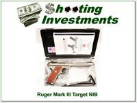 Ruger Mark III Target Stainless 22 NIC!