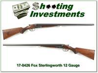 Fox Sterlingworth 12 Gauge 28in F & M Exc Cond!