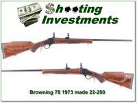 Browning Model 78 Single Shot 22-250 Octagonal Barrel