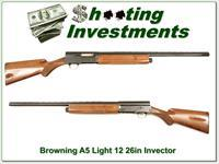 Browning A5 Light 12 26in Invector Exc Cond!