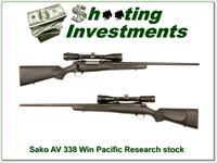 Sako AV 338 Winchester Mag Pacific Research stock!