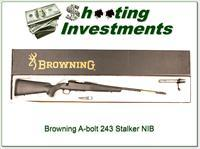 Browning A-bolt Stalker 243 new and unfired in box!
