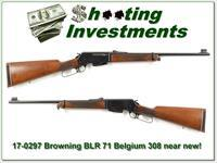Browning BLR 308 '71 Belgium near new collector!