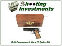 Colt 1911 Government Mark IV Series 70 45 ANIB