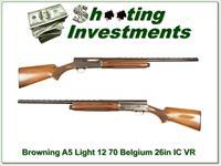 Browning A5 Light 12 70 Belgium 26in IC Vent Rib!
