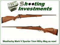 Weatherby Mark V Sporter 7mm Wthy Mag near new!