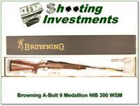 Browning A-bolt II Medallion 300 WSM last ones!