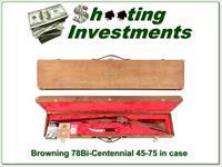 Browning Model 78 Bi-Centennial set 45-70 unfired in case BEAUTIFUL!