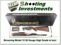 Browning Model 12 High Grade 5 28 Ga XX Wood ANIB