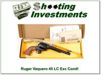 "Ruger Vaquero 45 Long Colt 7.5"" Barrel Older Model ANIB"