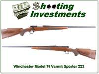 Winchester Model 70 Varmint Sporter 223 Exc Cond!